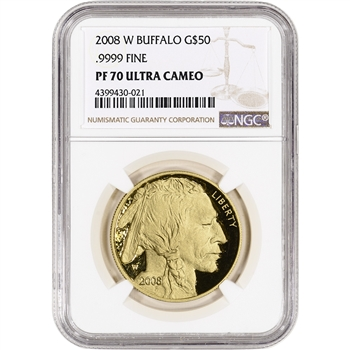 2008-W American Gold Buffalo Proof (1 oz) $50 - NGC PF70 UCAM