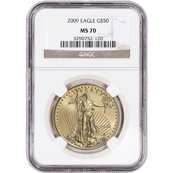 2009 American Gold Eagle (1 oz) $50 - NGC MS70