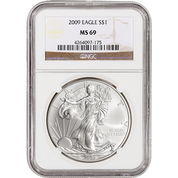 2009 American Silver Eagle - NGC MS69