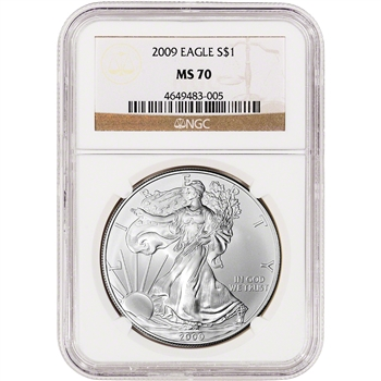 2009 American Silver Eagle - NGC MS70