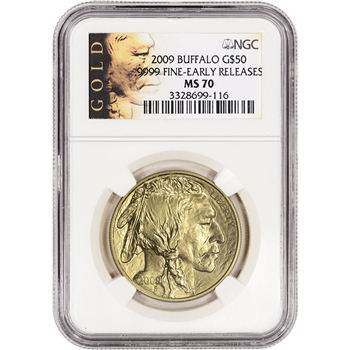 2009 American Gold Buffalo (1 oz) $50 - NGC MS70 - Early Releases - ALS Label