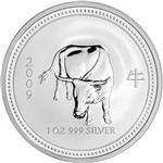 2009 Australia Silver Lunar Series I Year of the Ox 1 oz $1 - BU