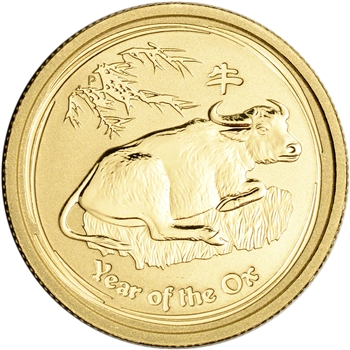 2009 P Australia Gold Lunar Series II Year of the Ox 1/4 oz $25 - BU
