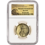 2009 US Gold $20 Ultra High Relief Double Eagle - NGC MS69 DPL - UHR Label