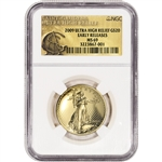 2009 US Gold $20 Ultra High Relief Double Eagle NGC MS69 Early Release UHR Label