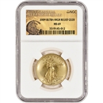 2009 US Gold $20 Ultra High Relief Double Eagle - NGC MS69 - UHR Label