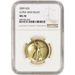 2009 US Gold $20 Ultra High Relief Double Eagle - NGC MS70