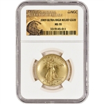 2009 US Gold $20 Ultra High Relief Double Eagle - NGC MS70 - UHR Label
