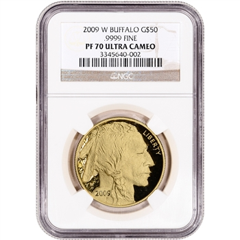 2009-W American Gold Buffalo Proof (1 oz) $50 - NGC PF70UCAM