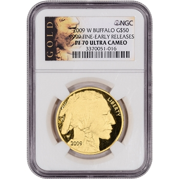2009-W American Gold Buffalo Proof (1 oz) $50 NGC PF70 Early Releases ALS Label