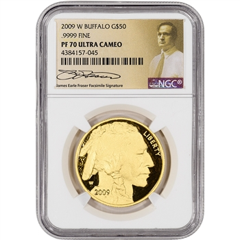 2009-W American Gold Buffalo Proof (1 oz) $50 - NGC PF70 Fraser Label