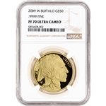 2009-W American Gold Buffalo Proof (1 oz) $50 - NGC PF70 UCAM - Large Label
