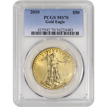 2010 American Gold Eagle - 1 oz - $50 - PCGS MS70