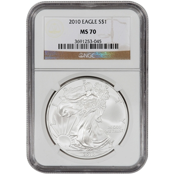 2010 American Silver Eagle - NGC MS70