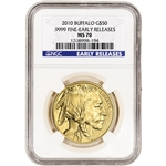 2010 American Gold Buffalo (1 oz) $50 - NGC MS70 - Early Releases