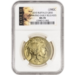 2010 American Gold Buffalo (1 oz) $50 - NGC MS70 - Early Releases - ALS Label