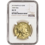 2010 American Gold Buffalo (1 oz) $50 - NGC MS70