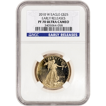 2010-W American Gold Eagle Proof (1/2 oz) $25 - NGC PF70 UCAM - Early Releases