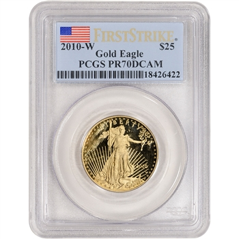 2010-W American Gold Eagle Proof 1/2 oz $25 - PCGS PR70 DCAM First Strike