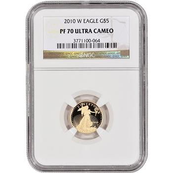 2010-W American Gold Eagle Proof (1/10 oz) $5 - NGC PF70UCAM