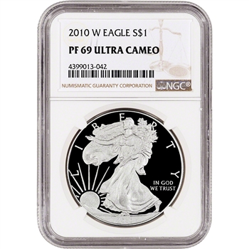 2010-W American Silver Eagle Proof - NGC PF69 UCAM