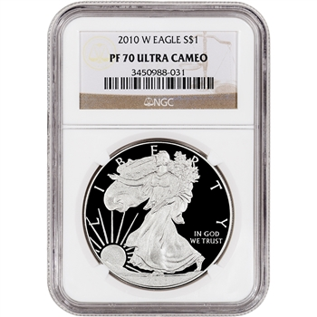 2010-W American Silver Eagle Proof - NGC PF70UCAM
