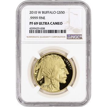 2010-W American Gold Buffalo Proof (1 oz) $50 - NGC PF69 UCAM