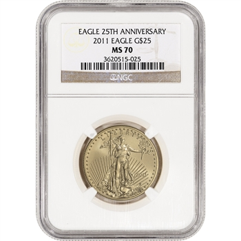 2011 American Gold Eagle (1/2 oz) $25 - NGC MS70