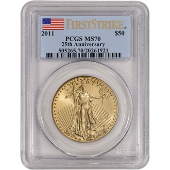 2011 American Gold Eagle (1 oz) $50 - PCGS MS70 - First Strike