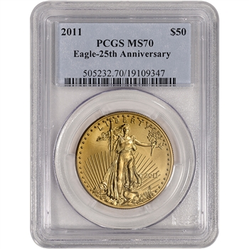 2011 American Gold Eagle (1 oz) $50 - PCGS MS70