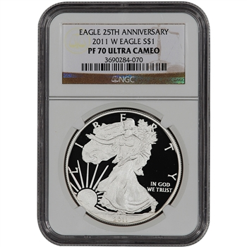 2011-W American Silver Eagle Proof - NGC PF70UCAM