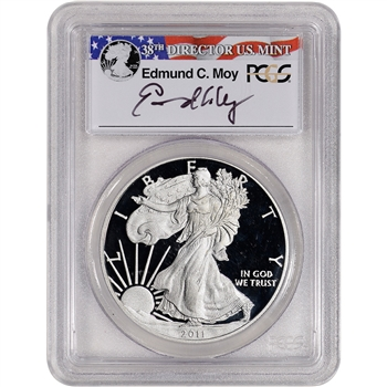 2011-W American Silver Eagle Proof - PCGS PR69 DCAM Moy Signed
