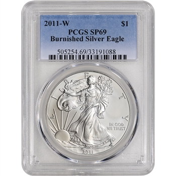 2011-W American Silver Eagle Burnished - PCGS SP69
