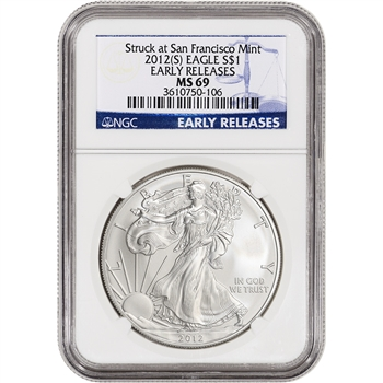 2012-(S) American Silver Eagle - NGC MS69 - Early Releases