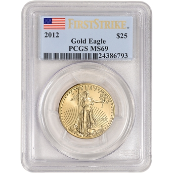 2012 American Gold Eagle 1/2 oz $25 - PCGS MS69 - First Strike