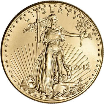 2012 American Gold Eagle 1 oz $50 - BU
