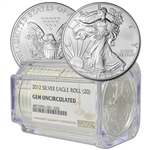 Roll of 20 - 2012 American Silver Eagle - NGC Gem Uncirculated