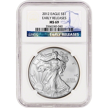 2012 American Silver Eagle - NGC MS69 - Early Releases