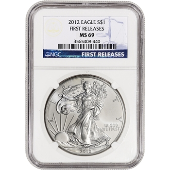 2012 American Silver Eagle - NGC MS69 First Releases