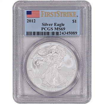 2012 American Silver Eagle - PCGS MS69 - First Strike