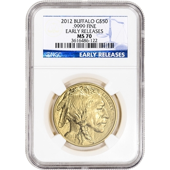 2012 American Gold Buffalo (1 oz) $50 - NGC MS70 - Early Releases