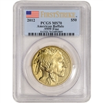 2012 American Gold Buffalo 1 oz $50 - PCGS MS70 - First Strike