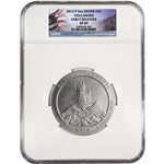 2012-P ATB Volcanoes Silver (5 oz) 25C - NGC SP69 - Early Releases Flag Label