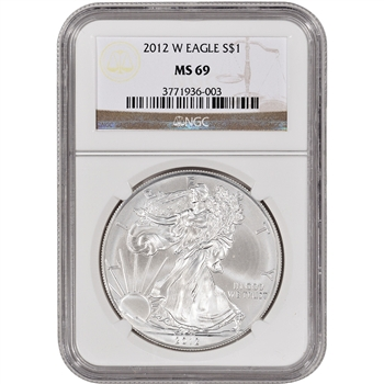 2012-W American Silver Eagle - Uncirculated Collectors Burnished - NGC MS69