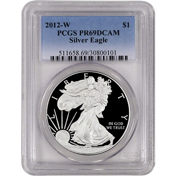 2012-W American Silver Eagle Proof - PCGS PR69DCAM