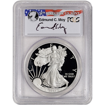 2012-W American Silver Eagle Proof - PCGS PR69 DCAM Moy Signed
