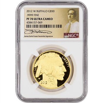2012-W American Gold Buffalo Proof (1 oz) $50 - NGC PF70 Fraser Label