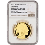 2012-W American Gold Buffalo Proof (1 oz) $50 - NGC PF70 Large Label
