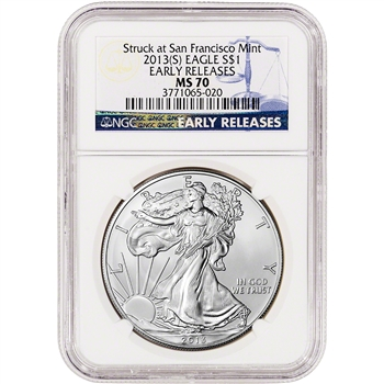 2013-(S) American Silver Eagle - NGC MS70 - Early Releases