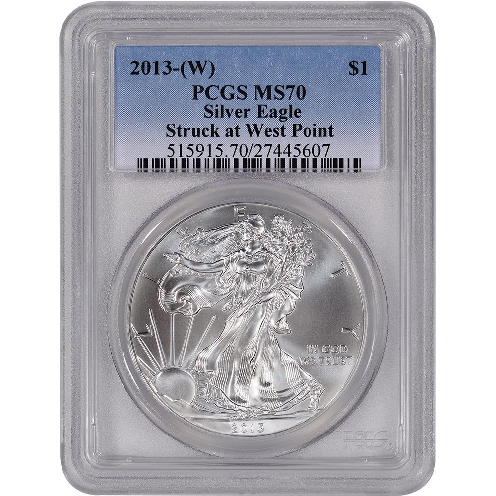 2013 Silver American Eagle MS-70 PCGS W
